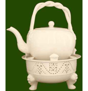 Leeds Pottery Creamware Chocolate Kettle only