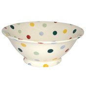Polka Dot Serving Bowl