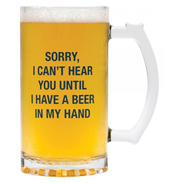 About Face Beer In Hand 450ml Beer Mug
