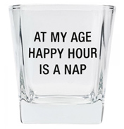 Happy Hour Is Nap Time Rocks Glass
