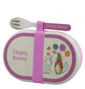 Beatrix Potter Flopsy Bunny Children's Organic Snack Box & Cutlery Set