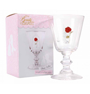 Beauty & The Beast Glass Goblet (Rose) (Boxed)