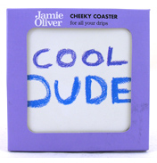 Jamie Oliver Cheeky Coaster COOL DUDE Round…