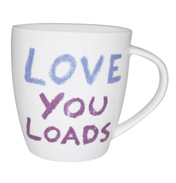 Jamie Oliver Cheeky Mugs 350ml LOVE YOU LOADS MUGS