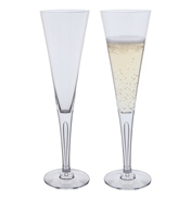 Sharon 'Fortieth Anniversary' Celebration Flute Glasses