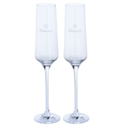 "Just For You ""My Valentine"" Flute Glass Pair"