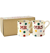 Emma Bridgewater Polka Dot Mr & Mrs Set of 2…