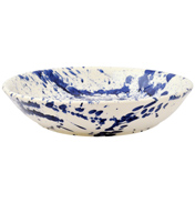 Blue Splatter Medium Pasta Bowl