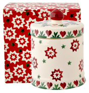 Joy Star Small Lidded Candle