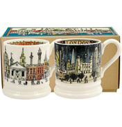 London at Night Set of Two ½ Pint Mugs