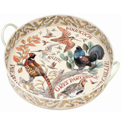 Game Birds Large Round Handled Tray