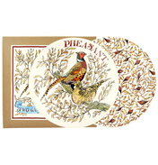 "Game Birds Roosting Pheasants Set of Two 8½"" Plates"