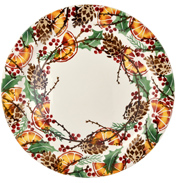Holly Wreath Cake Plate