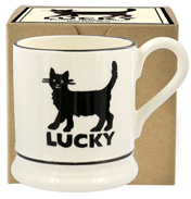 Lucky Black Cat ½ Pint Mug