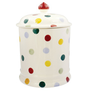 Polka Dot Two Pint Storage Jar