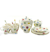 Polka Dot Melamine Children's Tea Set