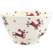 Reindeer Scatter Small Old Bowl