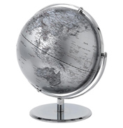 Enesco 30cm World Globe in SILVER