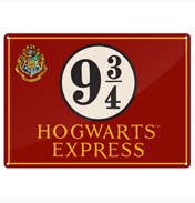 Harry Potter Hogwarts Express Tin Sign SMALL