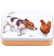 'Best Friends' Jack Russell Small Rectangular Tin