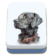 'Best Friends' Black Lab Small Rectangular Tin