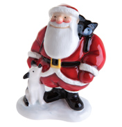 John Beswick Father Christmas with DOG & CAT…