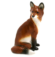 John Beswick Fox, Sitting Hand Painted Ceramic…
