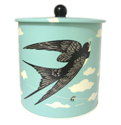 John Hanna Birds Country Fair Biscuit Barrel