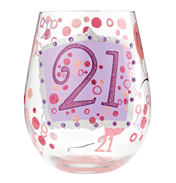 Lolita '21' Stemless Wine Glass