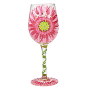 Lolita Mums Love in Bloom Wine Glass