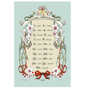 McCaw Allan Wedding Anniversaries Cotton Tea Towel