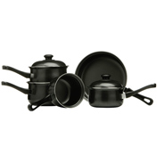 Premier 5 Piece Pan Set in Black