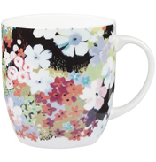 Sketchbook Black Fine Bone China Olive Mug