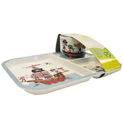 Pirates Divided Melamine Tray with Cup