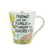 Queens The Good Life Friends Are Family Flight Mug