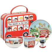 The Wheels On The Bus 4 Piece Fine China Breakfast Set