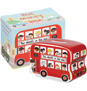 The Wheels On The Bus Fine China Money Box