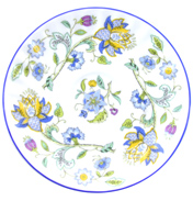 Minton Haddon Hall Blue Coffee Saucer ONLY