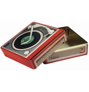Record Player LP Tin
