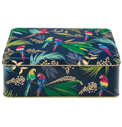 Parrot Deep Rectangular Storage Tin