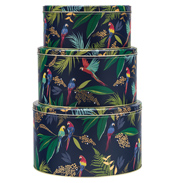 Parrots Set of 3 Round Cake Tins